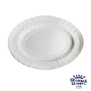 ベッキオホワイト オーバルプラター33cm リチャードジノリ 盛り皿楕円 0555  陶磁器製|therichcojp