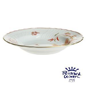 リチャードジノリ  スーププレート24cm パスタ皿 深皿 カレー レッドコック 陶磁器製