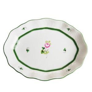 ヘレンド  ウィーンのバラ オーバルファンシーディッシュ20cm  オードブル 盛り皿