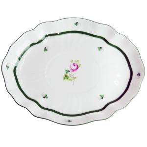 ヘレンド  ウィーンのバラ オーバルディッシュ26cm  オードブル 盛り皿