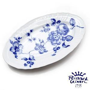 ローズブルー ピクルスオーバルディッシュ  リチャードジノリ  ピクルスオーバル皿 23cm 1295 陶磁器製|therichcojp