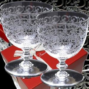 バカラ ワイングラスペアセット  ローハン グラスL 210ml  高さ10cm  バカラペア箱入 クリスタルガラス製|therichcojp