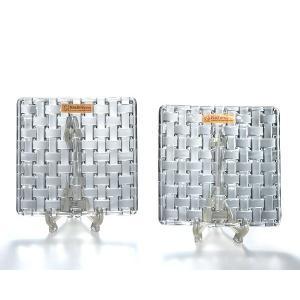 ナハトマン ボサノバ 101907 14cmスクエアプレート2枚組 小皿 クリスタルガラス製 Nachtmann|therichcojp