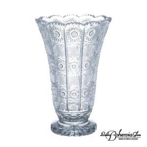 ガラス花瓶 花器  ボヘミアフラワーベース 500PK 高さ20cm 最高級クリスタルガラス製|therichcojp
