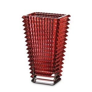 バカラ 花瓶  アイ  スクエアレッド フラワーベース  高さ20cm 2-802-298 Baccarat クリスタルガラス製  バカラ赤箱入 therichcojp