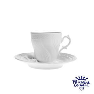 ベッキオホワイト コーヒーカップ&ソーサー120ml リチャードジノリ デミタス・エスプレッソ 陶磁器製|therichcojp