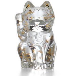 バカラ 招き猫 クリア 透明  ファウナクリストポリス クリスタルガラス製 Baccarat  動物...
