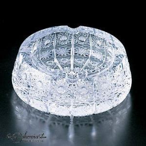 灰皿 アッシュトレイ 径13.3cm  高さ5.5cm  500PK 3333/500/6  ボヘミア最高級クリスタルガラス製|therichcojp