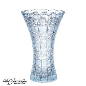 ガラス花瓶 花器  ボヘミアフラワーベース 500PK H20cm 最高級クリスタルガラス製|therichcojp
