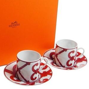 エルメス  コーヒーカップ&ソーサーペアセット ガダルキヴィール Guadalquivir 11017P  リモージュ磁器製|therichcojp