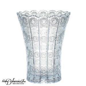 ガラス花瓶 花器  ボヘミアフラワーベース  500PK  高さ30cm  6/6/500/12  最高級クリスタルガラス製|therichcojp