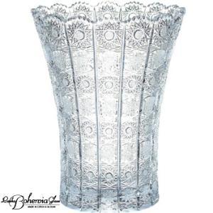 ガラス花瓶 花器  ボヘミアフラワーベース  500PK  高さ35cm  6/6/500/14  最高級クリスタルガラス製|therichcojp