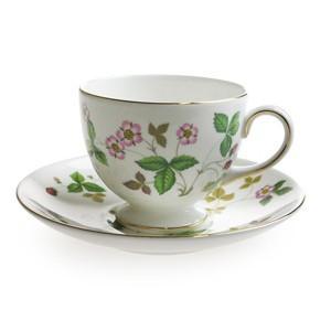 ウェッジウッド  WEDGWOOD  ワイルドストロベリー  ティーコーヒー兼用カップ&ソーサー(リー)200ml