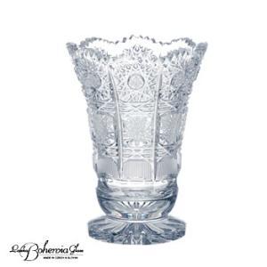 花瓶 花器  ボヘミアクリスタルガラス製  卓上花瓶 新作ミニベース  500PK ピーケー  高さ 10cm|therichcojp