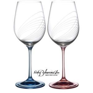 ボヘミア ワイングラス オービット ペアセット ボヘミアギフト箱2本入|therichcojp