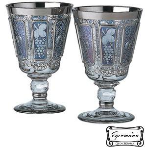 ワイングラスペアセット  ボヘミアクリスタルガラス製  2本組 エーゲルマン モドレー 170ml|therichcojp