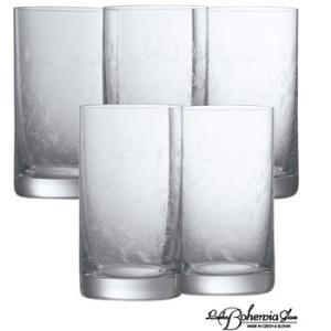 ウイスキー水割りハイボールグラス5客セット  ボヘミアクリスタルガラス製  タンブラー5本組  ボヘミアンドリーム|therichcojp