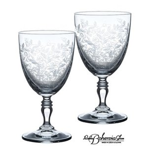 ワイングラスペアセット 2本組  ボヘミアンドリーム 200ml  KA820-200  ボヘミアクリスタルガラス製|therichcojp