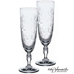 シャンパングラスペアセット ボヘミアンドリーム フルート2本組  220ml  KA822-220  ボヘミアクリスタルガラス製|therichcojp
