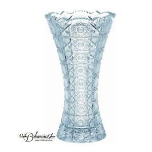 ガラス花瓶 花器  ボヘミアフラワーベース マイア H20.5cm 最高級クリスタルガラス製|therichcojp