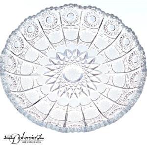 ガラス皿  ガラスプレート 大皿31cm 500PK PD306  ボヘミア最高級クリスタルガラス製|therichcojp