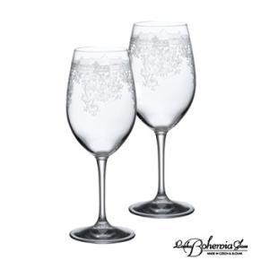 ボヘミア ワイングラス プラウダ ペアセットS ボヘミアギフト箱2本入|therichcojp