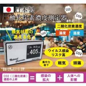 日本製 二酸化炭素 濃度 測定器 コンパクト co2 濃度測定器 co2モニター マネージャー ウイルス コロナ 対策 温度 湿度 補助金対象の画像