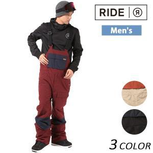 【RIDE】ライドのメンズスノーボードパンツ。 ライダーに根強い人気を誇るビブ・パンツは、 機能性・...