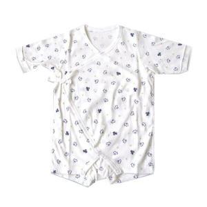 日本製ベビー服 フィットインナー フライス 星クルマ柄 50cm 60cm 70cm 肌着 年間素材 1201138 メール便|think-b
