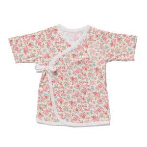 日本製ベビー服 短肌着 フライス 女の子 花柄 50cm 60cm 1201141 メール便|think-b