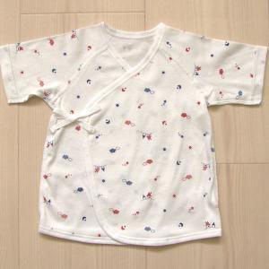 日本製ベビー服 短肌着 フライス 空・おうち柄 新生児 50cm 60cm 1201171 メール便|think-b