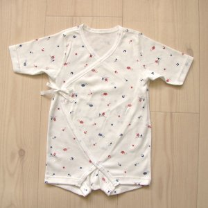 日本製ベビー服 フィットインナー フライス 空・おうち柄 50cm 60cm 70cm 肌着 年間素材 1201178 メール便|think-b
