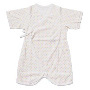 日本製ベビー服 コンビ肌着 フライス 水玉柄 50-60cm 1201182 メール便|think-b