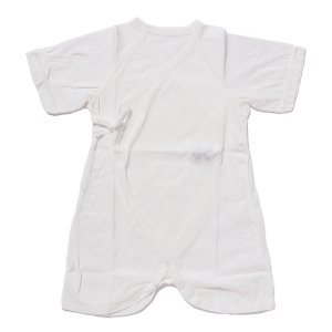 日本製ベビー服 コンビ肌着 夏素材 さわやか天竺 アトピーノンノン敏感肌 50-60cm 1201312 メール便|think-b
