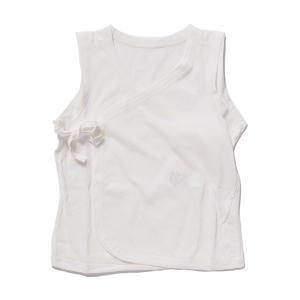 日本製ベビー服 ノースリーブ短肌着 夏素材 天竺 アトピーノンノン 敏感肌に 天然コーティング 50cm 60cm メール便|think-b