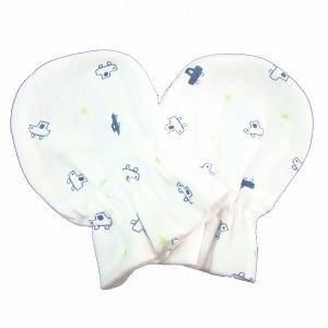 日本製ベビー服 ミトン 星クルマ柄 年間定番  新生児 出産祝い 出産準備1721025 メール便|think-b