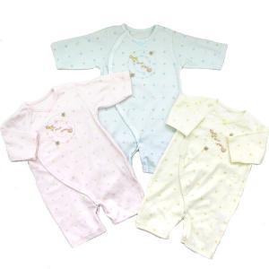 日本製ベビー服 カバーオール フィットドレス 水玉動物柄 2510151|think-b