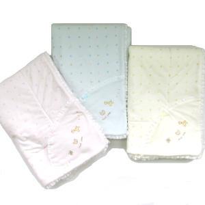 日本製ベビー服 ベビーアフガン ブランケット 動物水玉柄 おくるみ 2510156|think-b