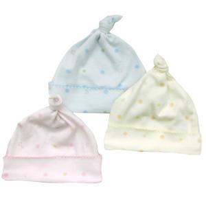 日本製ベビー服 キャップ ベビー帽子 水玉動物柄 2510159 メール便 think-b