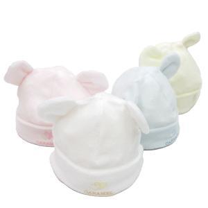 日本製ベビー服 くま耳ベビーキャップ 帽子 2530115 think-b