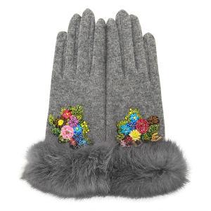 レディース 手袋 グレー シンクビー デコラ 公式