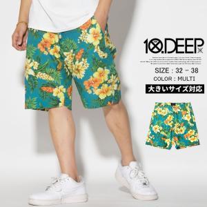 10DEEP テンディープ ハーフパンツ メンズ ボタニカル...