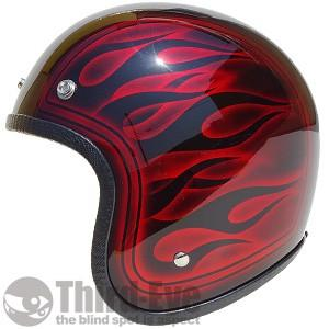 バイク ヘルメット スモールジェット フレイムス 16TFS185