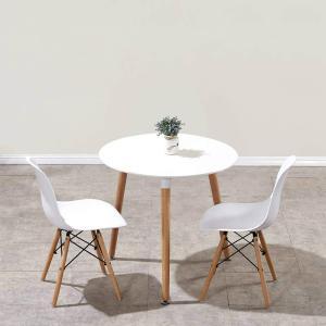 ダイニングテーブルセット 2人用 イームズテーブル 丸テーブル デスク 机 カフェテーブル チェア ...