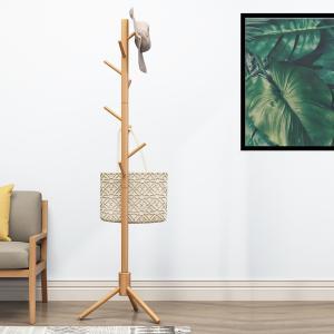 商品名:ポールハンガー 木製コートハンガー 仕様: サイズ:直径52cm×高さ176cm(約) 枝の...