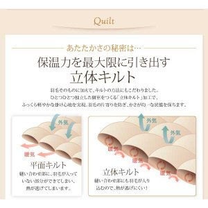 羽毛掛け布団 セミダブル 掛け布団 グースダウンタイプ three-links 07