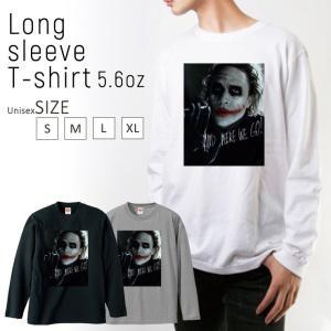 Tシャツ ロンT 長袖 メンズ joker ジョーカー horror ホラー メンズファッション ロ...