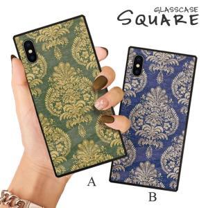 スマホケース iPhone11 Pro Max iPhone XR ケース 背面強化ガラス ケース iPhone8 XS ビクトリア ダマスク レトロ ビンテージ シック 大人 かっこいい おしゃれ|three-o-one