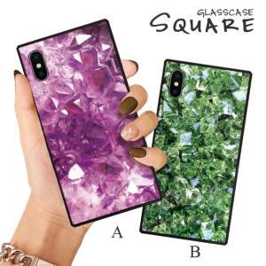 スマホケース iPhone11 Pro Max iPhone XR ケース 背面強化ガラス ケース iPhone8 XS アメジスト ペリドット ストーン 石 宝石 鉱物 ジュエリー 大人 おしゃれ|three-o-one