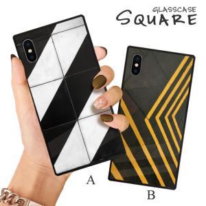 スマホケース iPhone11 Pro Max iPhone XR ケース 背面強化ガラス ケース iPhone8 XS 壁 地面 モノクロ 風景 フォト 幾何学 メンズ かっこいい|three-o-one